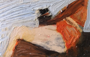 Ben 4, olja på duk, 24x20 cm, 2015, 2400 kr