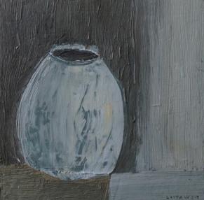 Vas, olja på trä, 15x15 cm, 2015, 900 kr