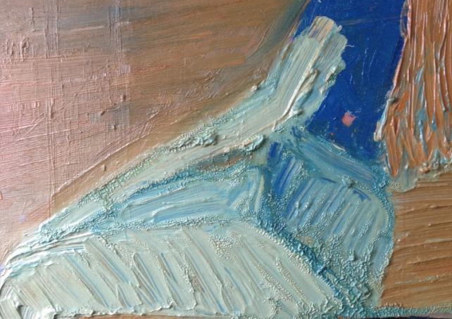 Ben 6, olja på duk, 24x20 cm, 2015, 2400 kr