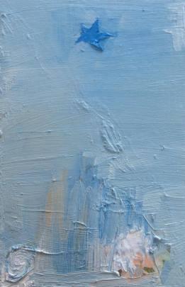 Star, olja på pannå, 17x21 cm, 2016, 2500 kr