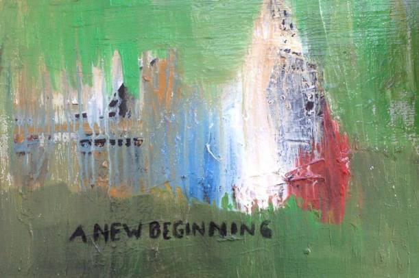 A new beginning, olja på duk, 54x38 cm, 2016, 6500 kr