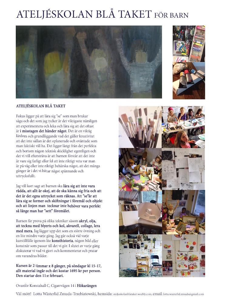 Ateljéskolan Blå Taket för barn
